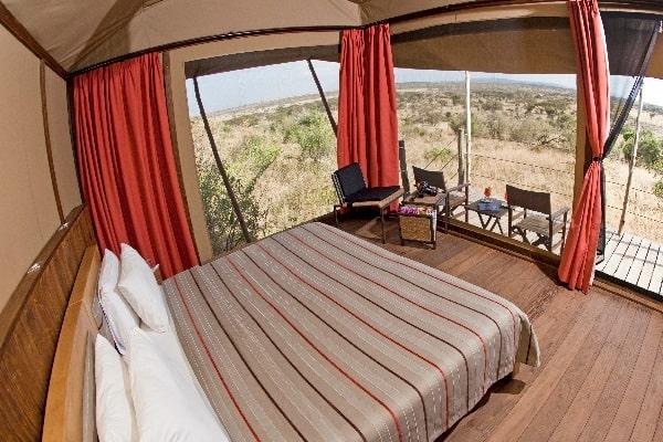Eagle View Tent Interior masai mara kenya