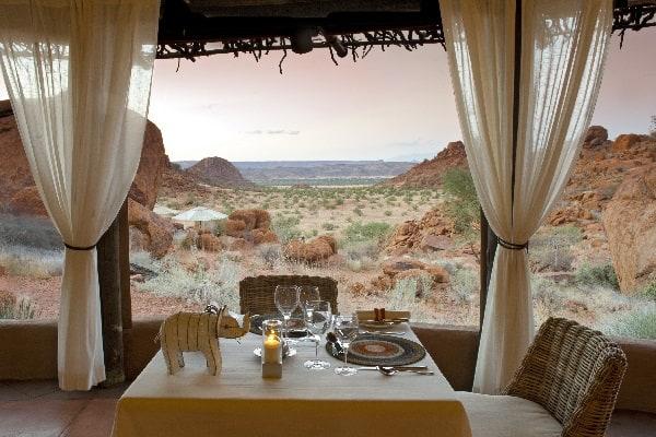Mowani Dining view damaraland namibia