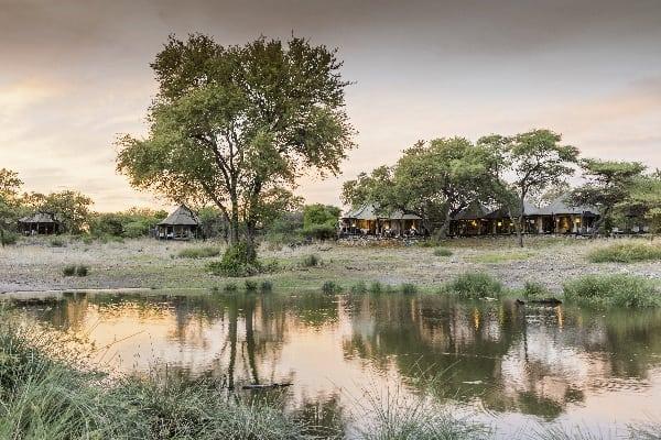 Onguma Tented Camp Watering Hole Etosha Namibia