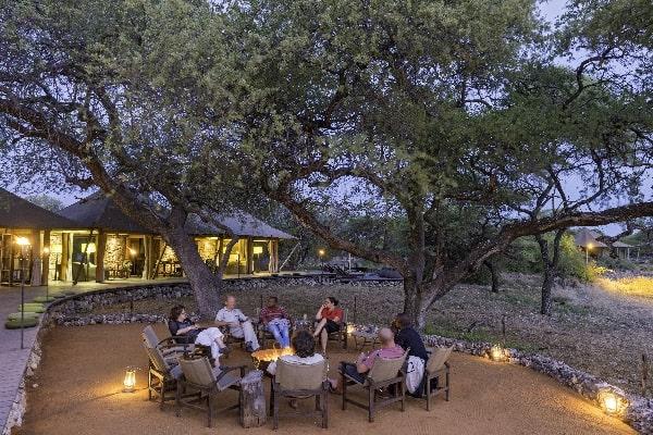 Onguma Tented Camp firepit Etosha Namibia