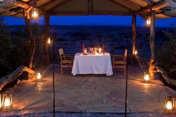Private Dining at Eagle View masai mara kenya