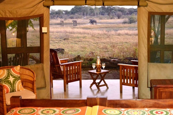 The-Hide-Tent-Waterhole-View-hwange-zimbabwe