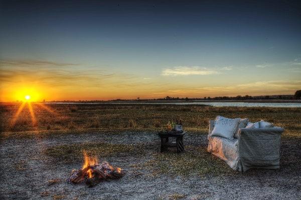 chobe-game-lodge-dinner-sunset-botswana
