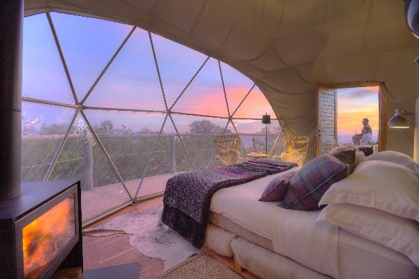 the-highlands-honeymoon-dome-sunset-tanzania-ngorongoro-crater